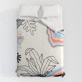 Rainbow Slime Terrarium - Version 3 Comforters