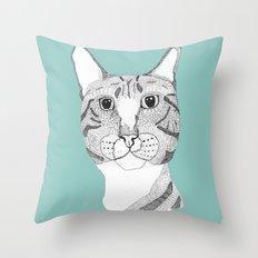 Tabbycat Throw Pillow