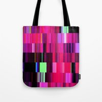 game Tote Bags featuring Game by Simona Sacchi