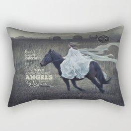 Angels Unaware Rectangular Pillow