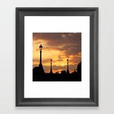 A sunset in Paris Framed Art Print