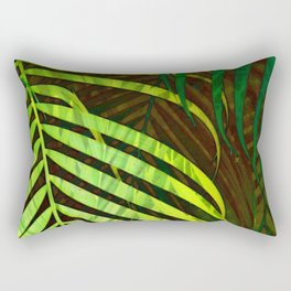 TROPICAL GREENERY LEAVES no8a Rectangular Pillow