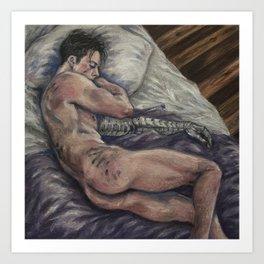 James, sleeping Art Print