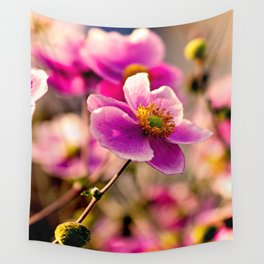 Japanese Anemone Wall Tapestry