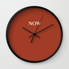 ROIBOS TEE solid color NOW Wall Clock
