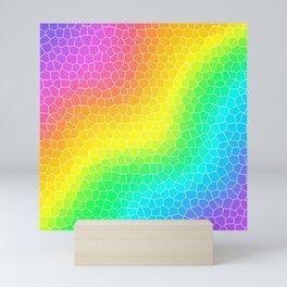 Wiggly Rainbow Gradient Dragon Scale Design! Mini Art Print