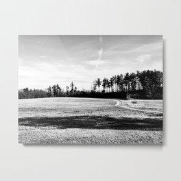Shadowing Metal Print
