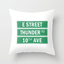 E Street Thunder Road 10th Ave Throw Pillow