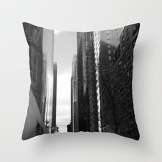 Reflection of the street Throw Pillow