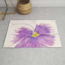 Purple Pansy Rug