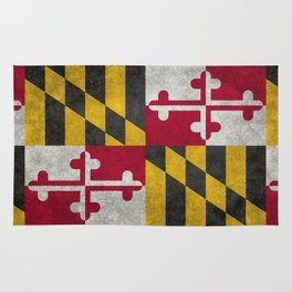 Maryland State flag - Vintage retro style Rug