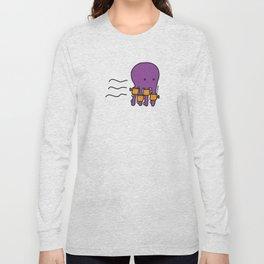 Swimming Octopus Long Sleeve T-shirt
