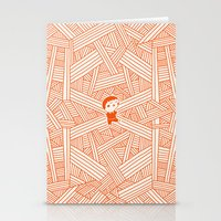 labyrinth Stationery Cards featuring Labyrinth by Jarvis Glasses