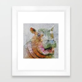 abstract hippo Framed Art Print