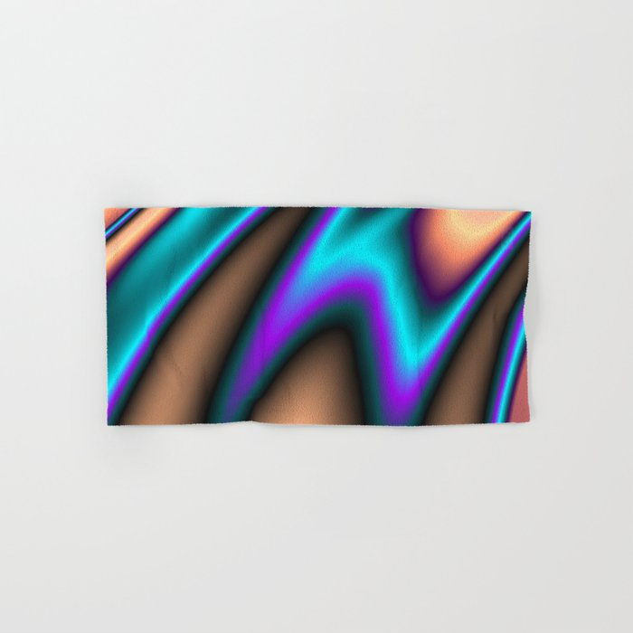 Abstract Fractal Colorways 03 Southwestern Hand & Bath Towel