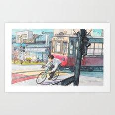 Bicycle Boy 05 Art Print