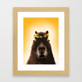Capybara Shining Framed Art Print