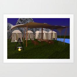 Medieval Camp Art Print