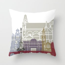 Cordoba skyline poster Throw Pillow