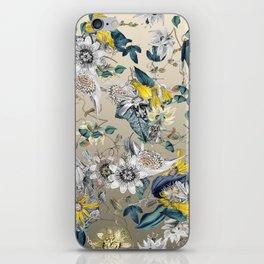 Exotic Fragrant Floral Garden in Gold iPhone Skin