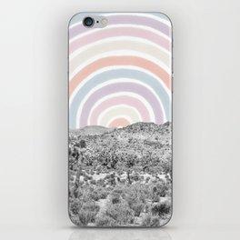 Happy Rainbow Rays // Scenic Desert Cactus Hill Landscape Watercolor Collage Dorm Room Decor iPhone Skin