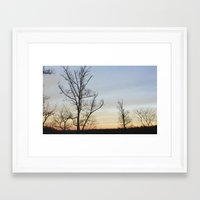 rileigh smirl Framed Art Prints featuring Sunset by Rileigh Smirl