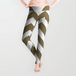 Gold Fusion - grey color - Zigzag Chevron Pattern Leggings