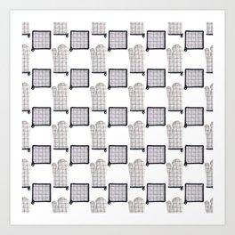 Oven Glove and Pot Mitt Holder Polka Dot Pattern Art Print