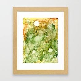 Green Abstract Art Framed Art Print