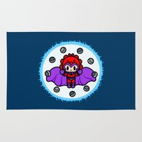 magneto Area & Throw Rugs featuring Magneto QiQi - magnet magnet magnet.... by Ziqi