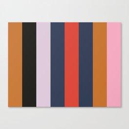 OBLIVION : (O)chre (B)lack (L)avender (I)ndigo (V)ermilion (I)ndigo (O)chre (N)adeshiko Pink Canvas Print