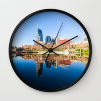 nashville Wall Clocks featuring Nashville by GF Fine Art Photography