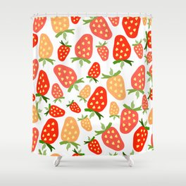 Sweet strawberry life. Shower Curtain