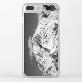 Mt. Blanc with cloud. Clear iPhone Case
