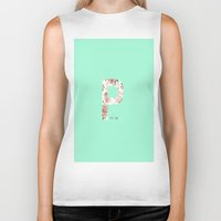 letters Biker Tanks featuring Letters by Paloma