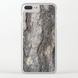 pine tree bark - scale pattern Clear iPhone Case