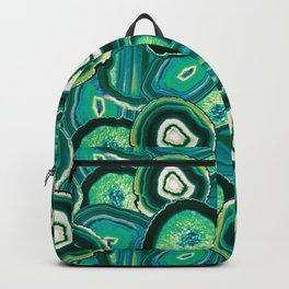 Geode Slices No.1 in Emerald + Malachite Green Backpack