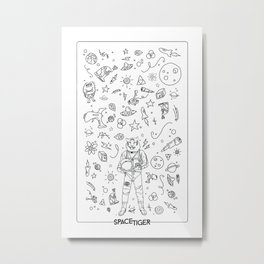 Commander SpaceTiger Metal Print