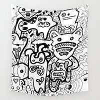 creativity Wall Tapestries featuring Mad Creativity by Frank's Mad