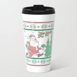 Running Christmas Travel Mug