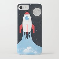 rocket iPhone & iPod Cases featuring Rocket by laurxy