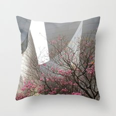 City Blossoms Throw Pillow