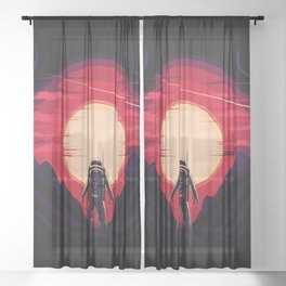 Somewhere in Space Sheer Curtain