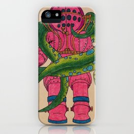 Pink Scuba Diver iPhone Case