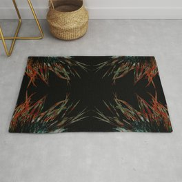 Sacred feathers geometry IV Rug