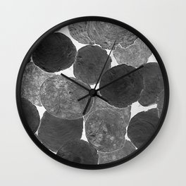 Abstract Gray Wall Clock