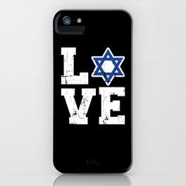 Israel love iPhone Case