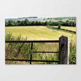 champs jaunes dans le sud Canvas Print