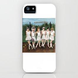Mashantum tennis club iPhone Case