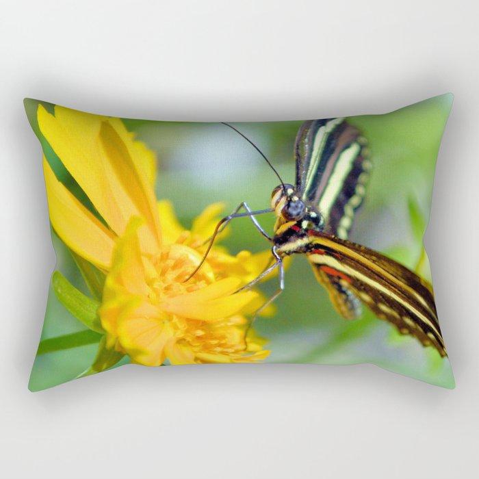The Zebra Longwing Rectangular Pillow